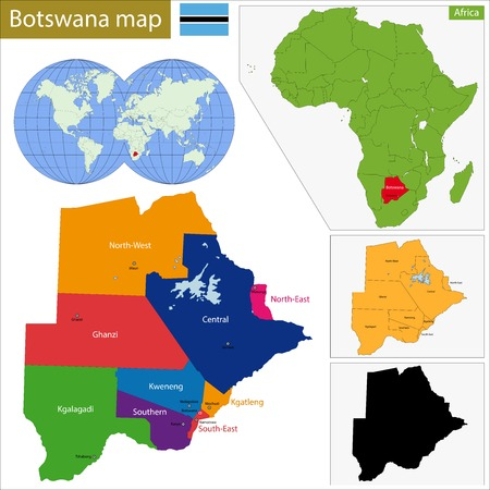 landlocked country: Administrative division of the Federal Republic of Botswana