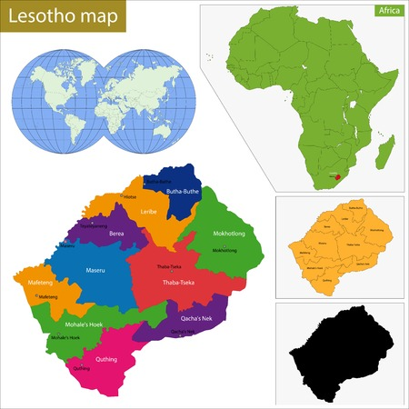 geographically: Administrative division of the Kingdom of Lesotho
