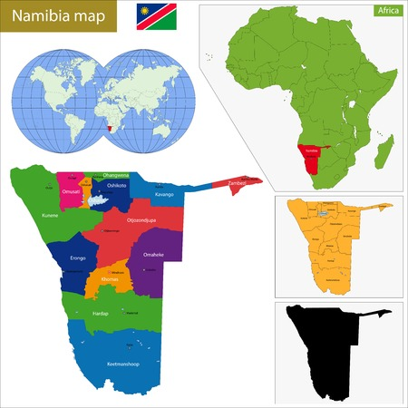 geographically: Administrative division of the Federal Republic of Namibia