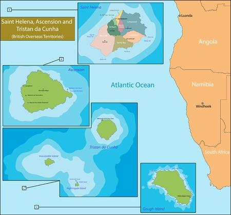overseas: Santa Elena, Ascensi�n y Trist�n da Cunha es un territorio brit�nico de ultramar en el Atl�ntico sur