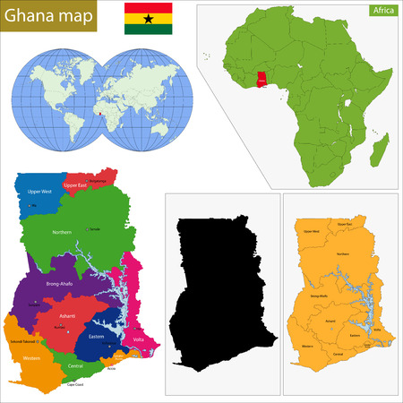 geographically: Administrative division of the Republic of Ghana