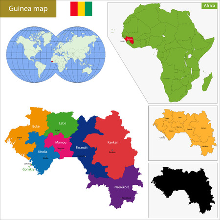 guinea: Administrative division of the Republic of Guinea