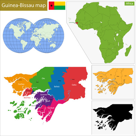 geographically: Administrative division of the Republic of Guinea-Bissau