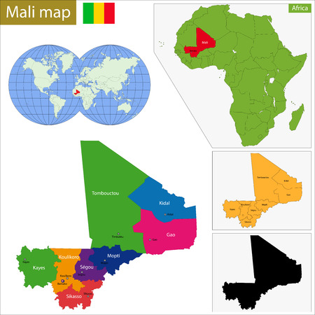 geographically: Administrative division of the Republic of Mali