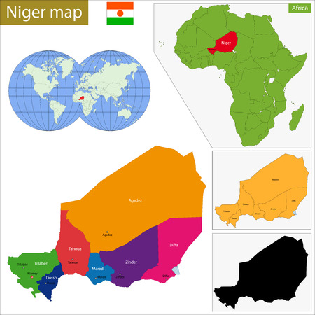 geographically: Administrative division of the Republic of Niger