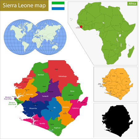 geographically: Administrative division of the Republic of Sierra Leone