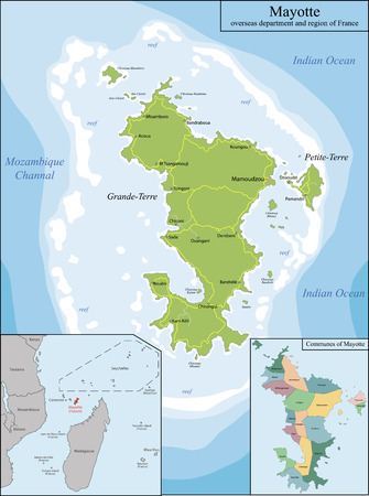 mayotte: Mayotte is an overseas department and region of France officially named Department of Mayotte