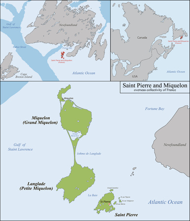 newfoundland: Overseas collectivity of Saint Pierre and Miquelon  is a self-governing territorial overseas collectivity of France, situated in the northwestern Atlantic Ocean near Canada