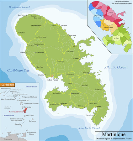 insular: Martinique is an insular region of France located in the Lesser Antilles in the eastern Caribbean Sea