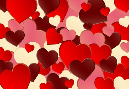 heart background: Different red heart shape background for wallpaper or banner Illustration