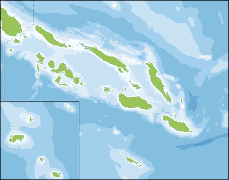oceania: Solomon Islands is a sovereign country consisting of six major islands and over 900 smaller islands in Oceania Illustration