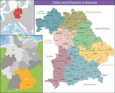 Bavaria is a federal state of Germany Reklamní fotografie - 60536822