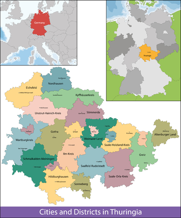 federal district: The Free State of Thuringia is a federal state in central Germany.