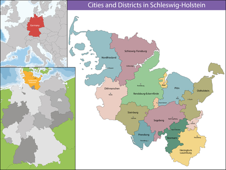schleswig holstein: Schleswig-Holstein is the northernmost of the 16 states of Germany, comprising most of the historical duchy of Holstein and the southern part of the former Duchy of Schleswig