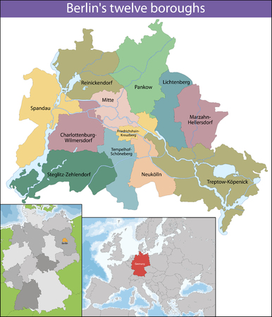 Berlin is the capital and the largest city of Germany as well as one of its 16 states Illustration