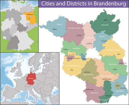 geographically: Brandenburg is one of the sixteen federated states of Germany