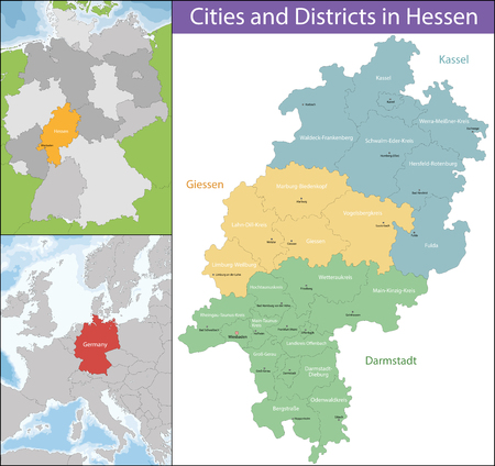 Hesse is a federal state of the Federal Republic of Germany, with just over six million inhabitants. Reklamní fotografie - 67664733