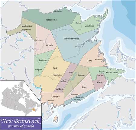 maritime: New Brunswick is one of Canada three Maritime provinces and is the only constitutionally bilingual province Illustration