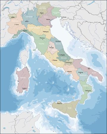 unitary: Map of Italy