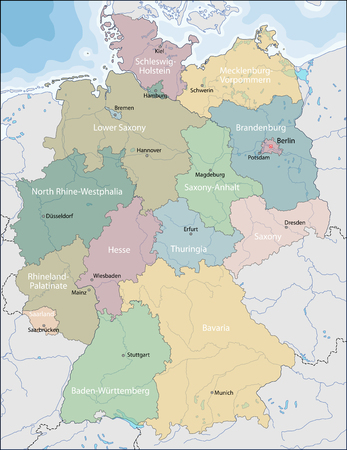 national: Mapa de Alemania Vectores