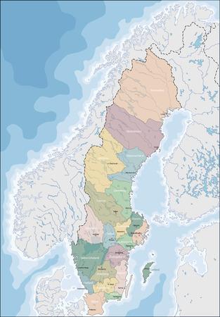 Map of Sweden Illustration