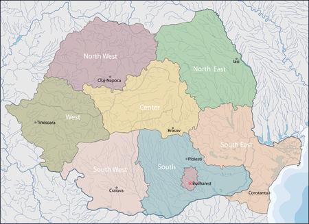 Map of Romania Ilustração
