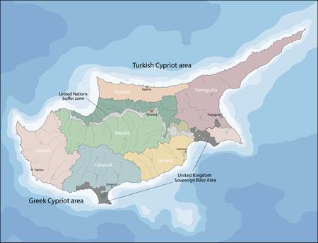 Kaart van Cyprus Stock Illustratie