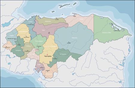 Honduras is a republic in Central America Ilustrace