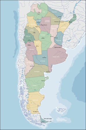 Argentina is a country located mostly in the southern half of South America.