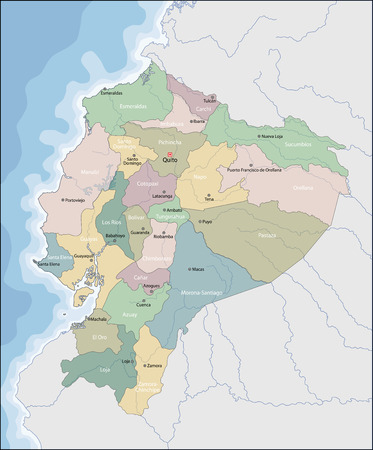 Map of Ecuador Ilustrace