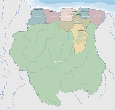 Suriname is a country on the northeastern Atlantic coast of South America