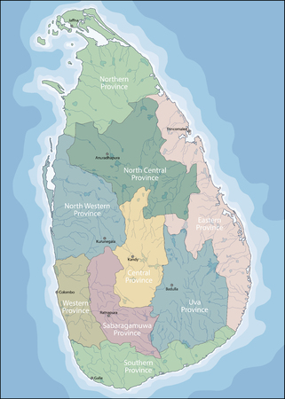 Sri Lanka is an island country in South Asia, located in the Indian Ocean to the southwest of the Bay of Bengal and to the southeast of the Arabian Sea Иллюстрация