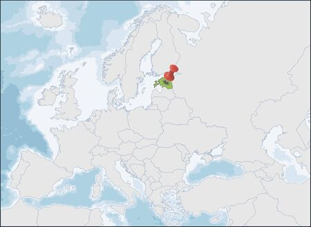 Republic of Estonia location on Europe map