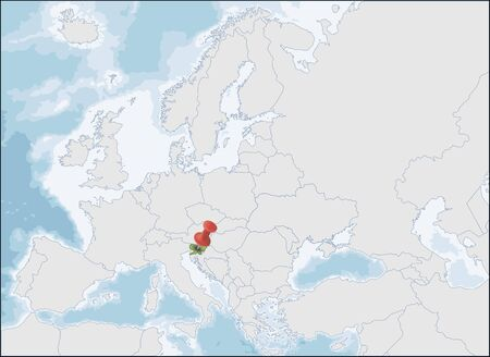 Republic of Slovenia location on Europe map