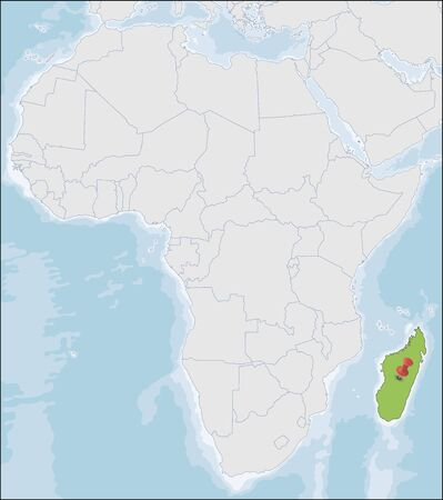 Republic of Madagascar location on Africa map