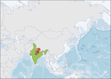Republic of India location on Asia map Ilustrace