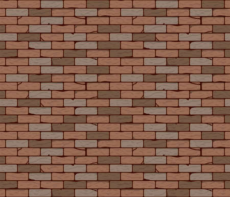 Brick wall seamless background or texture. Vector illustration