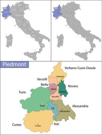 Piedmont is a region in northwest Italy