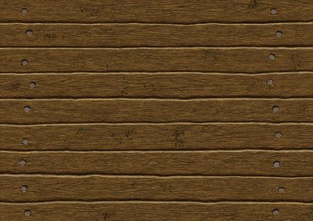 walled: Illustration sawn nailed boards