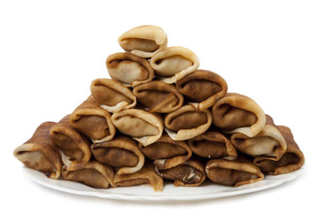 pancakes on a white background photo