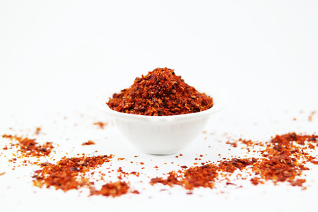 pepper flakes: red pepper flakes Stock Photo