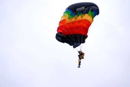 parachutists: Samara, Russin Federation, 11 october 2008  training of parachutists jumping Editorial