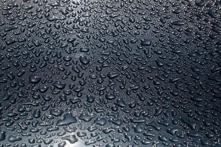 Water drops darken background texture Stock Photo