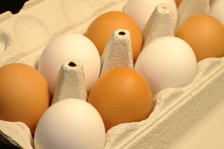 abstractly: egg box Stock Photo