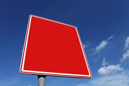 roadsign: roadsign in red