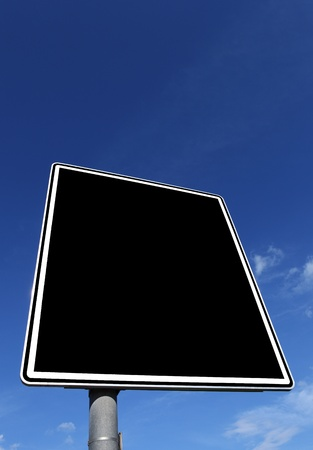 roadsign: roadsign in black