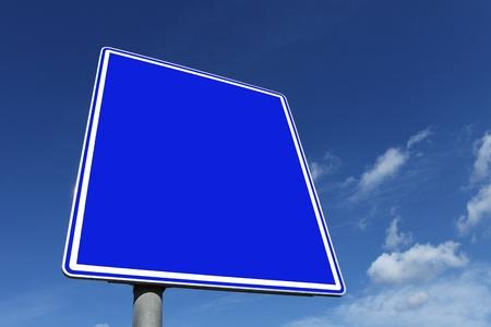 roadsign: roadsign in blue Stock Photo