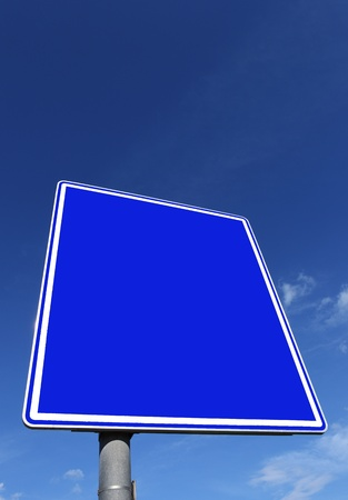 roadsign: roadsign in blue Stock Photo