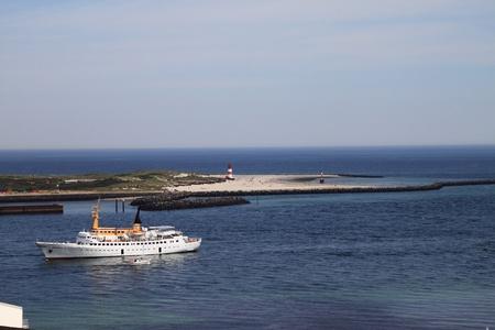 ship traffic off helgoland