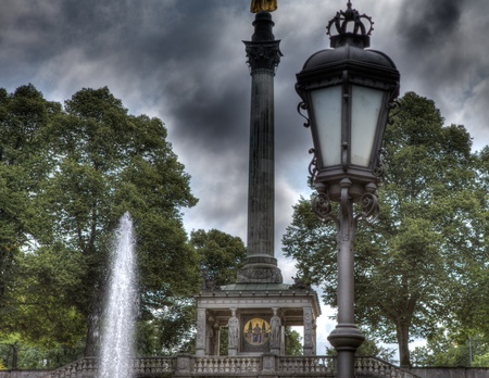 the fountain with angels: angel of peace munich
